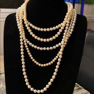 Set of 5 Truly Vintage Pearls with Fancy Clasps
